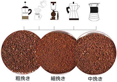 コーヒー豆の粒度と抽出方法