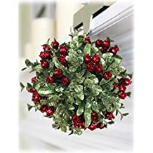 Ganz 5 Inch Mistletoe Kissing Ball Ornament by Ganz