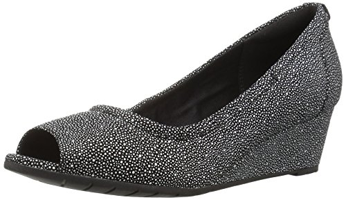 CLARKS Women's Vendra Daisy Dress Pump, Black Interest Nubuck, 8 M US
