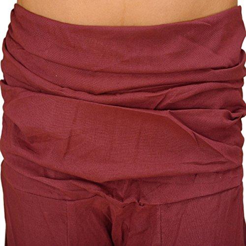 Pantaloni da per Maroon yoga amp; cotone in donna 2 Skirts Scarves colore viola E6BcWgZq