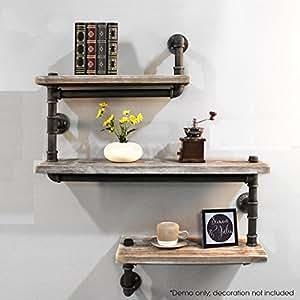 industrial pipe shelving bookshelf rustic. Black Bedroom Furniture Sets. Home Design Ideas