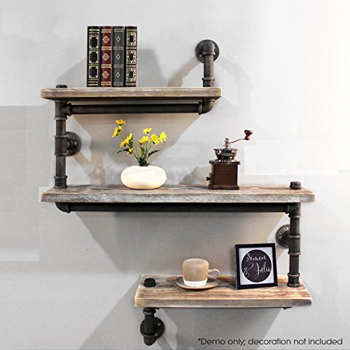 Industrial Pipe Shelving Bookshelf Rustic Modern Wood Ladder Pipe Wall Shelf 3 Tiers Wrought IronPipe Design Bookshelf Diy Shelving by Diwhy