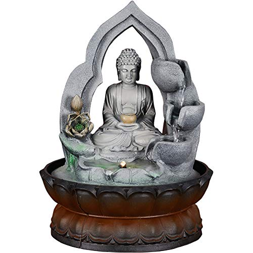 Buddha Fountain With Led Light in US - 9