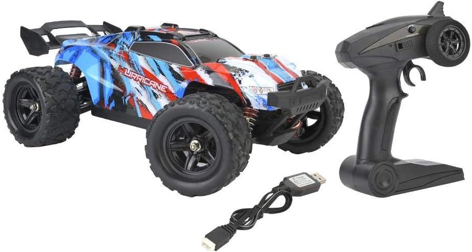 Dilwe RC Coche 1/18 Remoto Electrica, RC Car 2.4 GHz Off Road Radio Control Auto 1/18 Cuatro Ruedas Conduce El Coche R¨¢Pido de La Velocidad RC Modelo de Juguete(Azul)