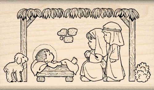- Stamps by Impression ST 0914 Children's Nativity Christmas Rubber Stamp