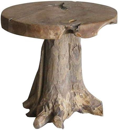 Tabouret en Racine de Teck -Meuble Style Exotique,Cosy Naturel, Chalet Chic  -Stool CHAMPI