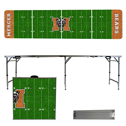 NCAA Mercer University Bears Football Field Version 8' Folding Tailgate Table by Victory Tailgate