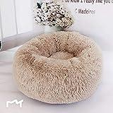 Pet Dog Cat Calming Bed Foviza Round Nest Warm Soft Plush Comfortable