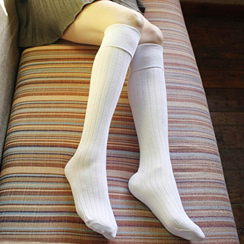 Kvinna Vinter Strumpor, Egmy Flicka Vinter Bomull Varmare Mjuka Bomullsstrumpor Legging White