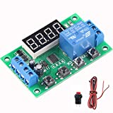 Delinx Mini DC 12V Programmable Timer Relay Delay Module 24 Programs Infinite Cycle on/off Switch 0.01Sec to 999Min Adjustable