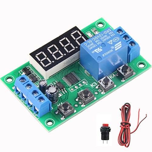 able Timer Relay Delay Module 24 Programs Infinite Cycle on/off Switch 0.01Sec to 999Min Adjustable ()