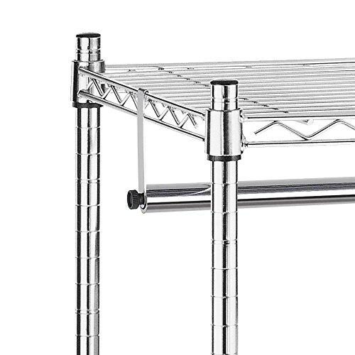 Whitmor Supreme Garment Rack Chrome with Wheels