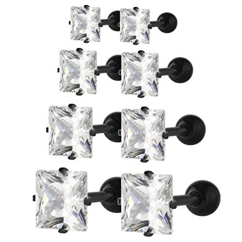 14k Cubic Zirconia Barbell - 1