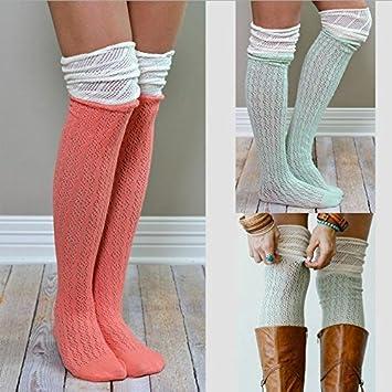 Desy Europa montones de calcetines, rodilla botas, para colgar calcetines rodilla – 3 Pares