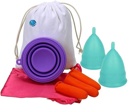 JYPCBHB Copa Menstrual para Protección Femenina Higiénica ...