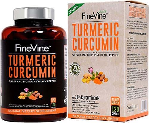 Vitamins & Supplements: FineVine Turmeric Curcumin