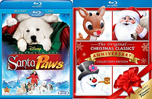 Christmas Story Collectors - Timeless Christmas Classics Rudolph Magoo Santa Claus & Frosty Collectors Edition 7 Holiday Story Pack & Disney Santa Paws Movie Set