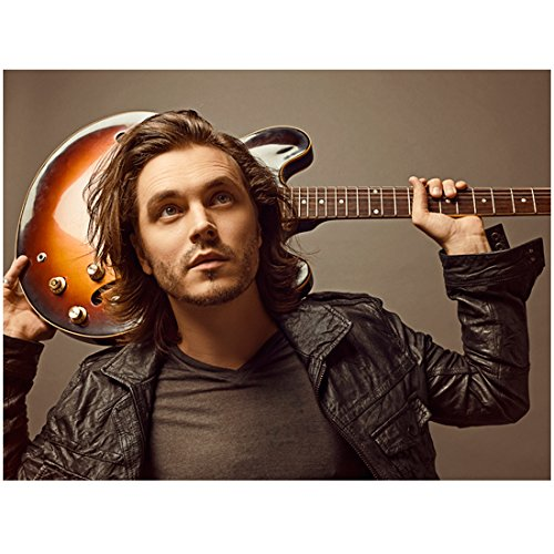 Jonathan Jackson 8inch x 10inch PHOTOGRAPH Nashville (TV Series 2012 - 2017) Guitar Behind Head kn