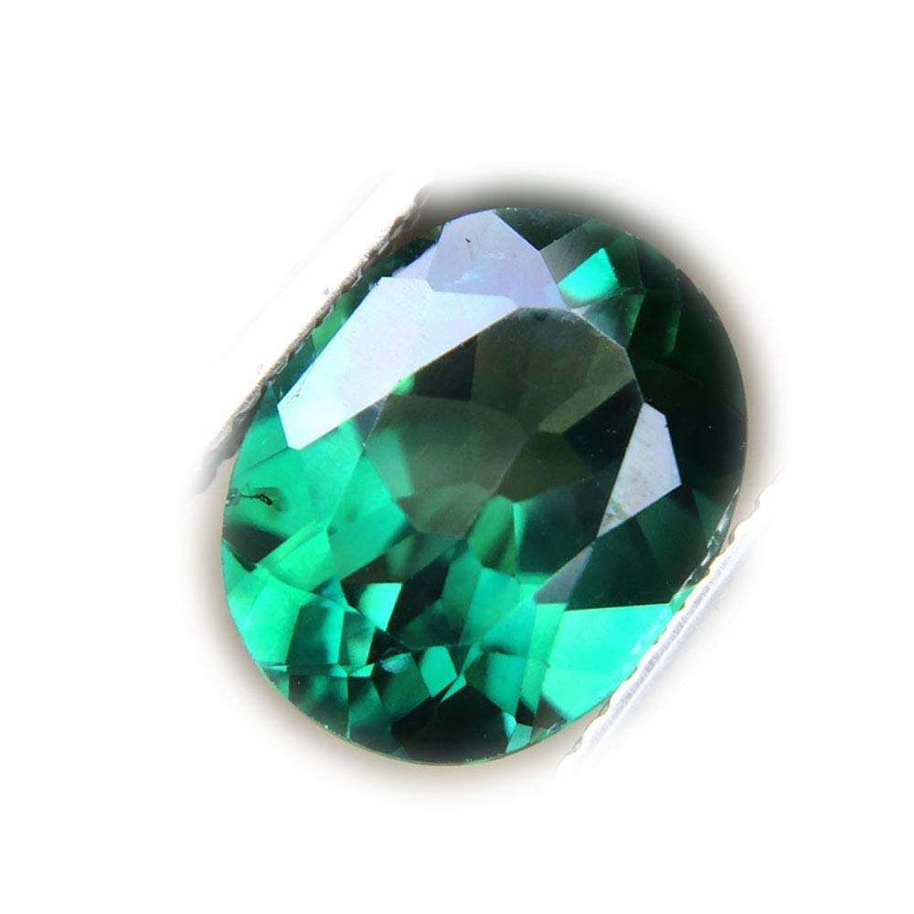 Lovemom 4.28ct Natural Oval Coating Green Topaz Brazil #R by Lovemom (Image #1)