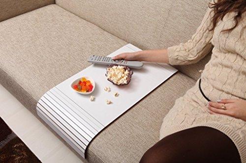 Sofa Tray Table - Long ( White Coffee ), Sofa Arm Tray, Armrest Tray, Sofa Arm Table, Couch Tray, Coffee Table, Sofa Table,Wood Tray,Wood Gifts