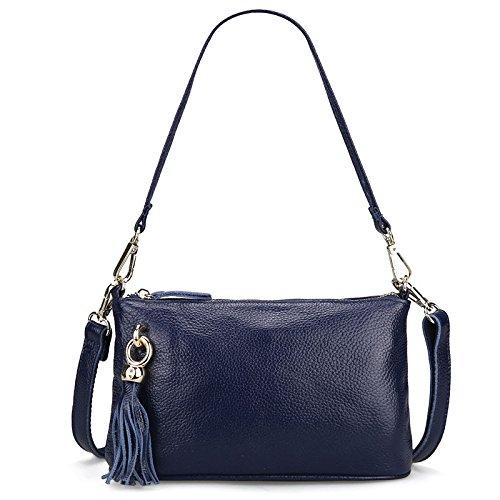 Mefly Señoras Bolso Negro bolso Ladies' Blue