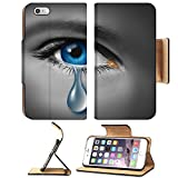 Liili Premium Apple iPhone 6 Plus iPhone 6S Plus Flip Pu Leather Wallet Case IMAGE ID: 12353991 Child abuse with the eye of a young boy or girl with a single tear crying due to the fear of vio