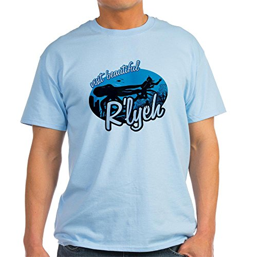 CafePress Call of Cthulhu - Visit Beautiful R'lyeh Light T-S 100% Cotton T-Shirt (Call Of Cthulhu 6th Edition Character Sheet)