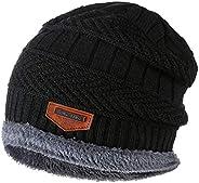 Fityle Chapéu Unisex De Gorro Chapéu De Malha Quente Chapéu Forrado De Lã Grossa Para Esporte De Corrida Ao Ar