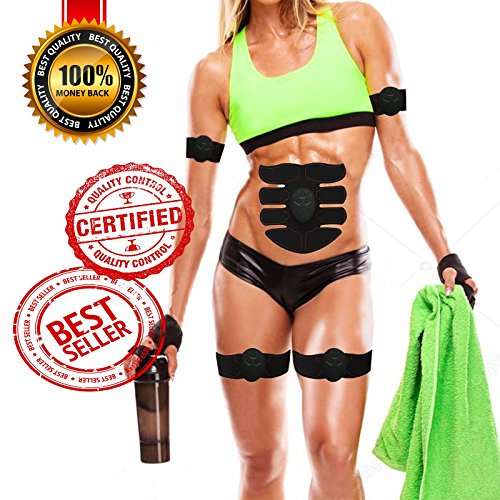 Abs Stimulator Muscle Toner Toning Belt Ab Stimulator for Men and Women - Ultimate Abs Stimulator - BY EXPLORE FIT PRO [2018 UPGRADED VERSION] (Combination Stimulation)