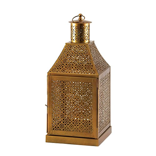 Zingz and Thingz Oracle Gold Lantern (Centerpieces Lantern Gold)