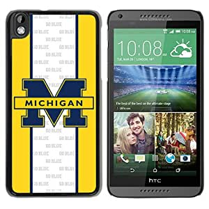 Ncaa Michigan Wolverines 19 Black Hard Phone Case For HTC Desire 816