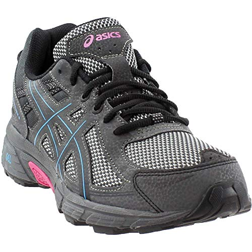 ASICS Women's Gel-Venture 6 Running Shoe, Black/Island Blue/Pink, 9.5 M US