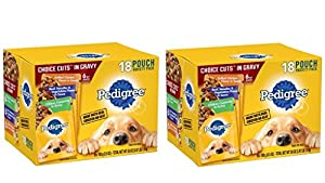 Pedigree Choice Cuts Variety Pack Grilled Chicken, Beef & Chicken Casserole Dog Food 3.5 oz (36 Count)