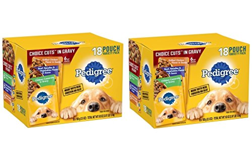 Pedigree Choice CUTS in Gravy Adult Wet Dog Food Variety Pack, (36) 3.5 oz. Pouches by Pedigree