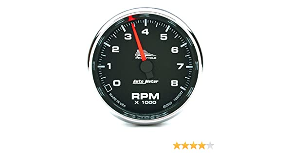8K RPM 2/&4 Cylinder Tach Auto Meter AutoMeter 19308 Gauge Chrome 2-5//8 Pro-Cycle