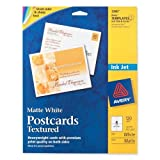 Wholesale CASE of 15 - Avery Textured Post Cards-Post Cards,Textured,Card Size 4-1/4''x5-1/2'',Matte,120/BX,WE