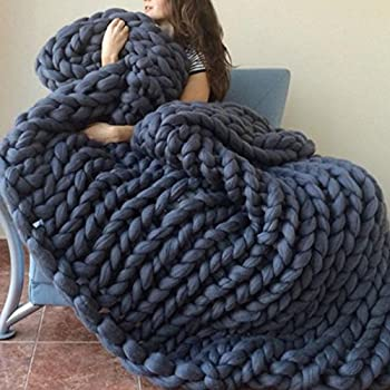 Amazon.com: Chunky Giant Knit Thick Yarn Blanket Bulky