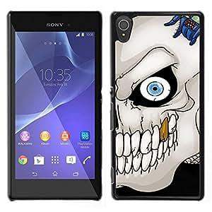 - Sugar Skull Bone - - Monedero pared Design Premium cuero del tir¨®n magn¨¦tico delgado del caso de la cubierta pata de ca FOR Sony Xperia T3 m50w Funny House