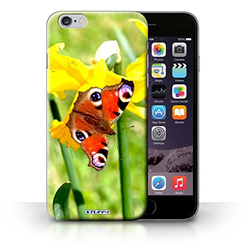 Hülle Case für iPhone 6+/Plus 5.5 / Schmetterling Entwurf / Blumengarten Blumen Collection