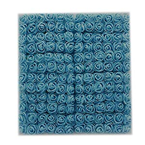 Muhan 144 Pcs Mini Artificial Roses Flowers, Fake PE Foam Flowers Bouquet for DIY Wedding Baby Shower Home Party Decor 105