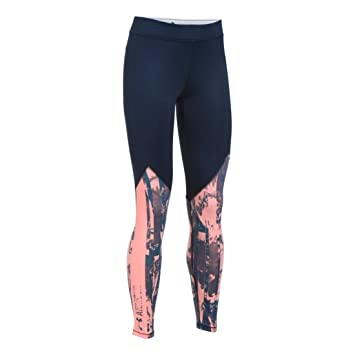 5c77ef9ae2ad7 Under Armour Women's CG Graphic Print Leggings, Midnight Navy/Cape Coral, X-