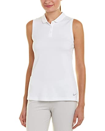 Nike Golf Womens Yoga Fitness Polo White L at Amazon Womens ...