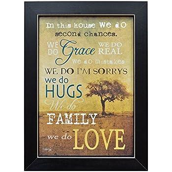 Amazon.com: Framed Print - In This House, We Do Grace, Hugs, Love ...