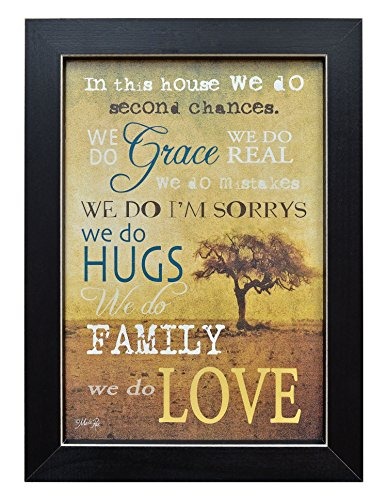 (Framed Print - In This House, We Do Grace, Hugs, Love, Family - Primitive Country Rustic Inspirational Quote Wall Art Decor 14