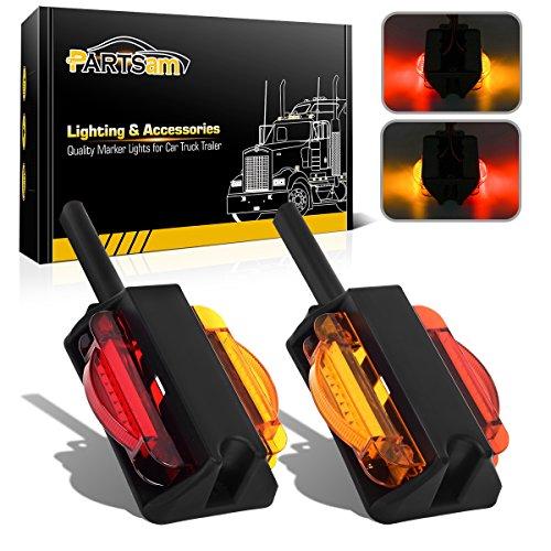 LED Trailer Fender Light Set/2 - Double Face 4 LED Marker Clearance Lights 7Diode