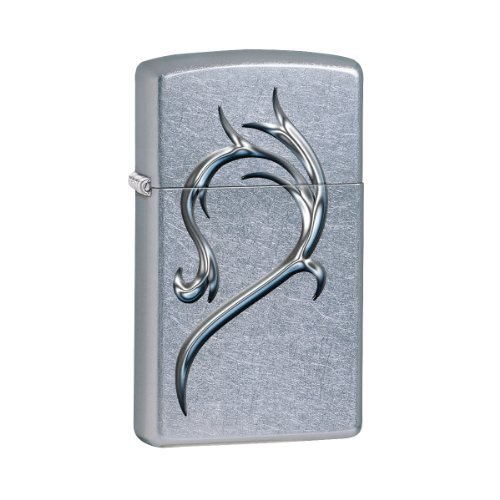 Zippo Slim Heart Street Chrome Gift Set Pocket Lighters