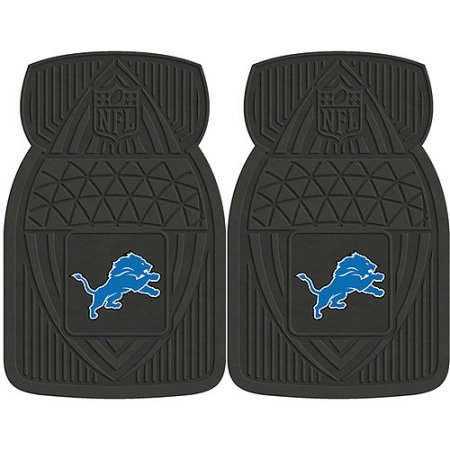 NFL 4-Piece Front #36572621 and Rear #19888889 Heavy-Duty Vinyl Car Mat Set, Detroit Lions by Sports Licensing Solutions LLC