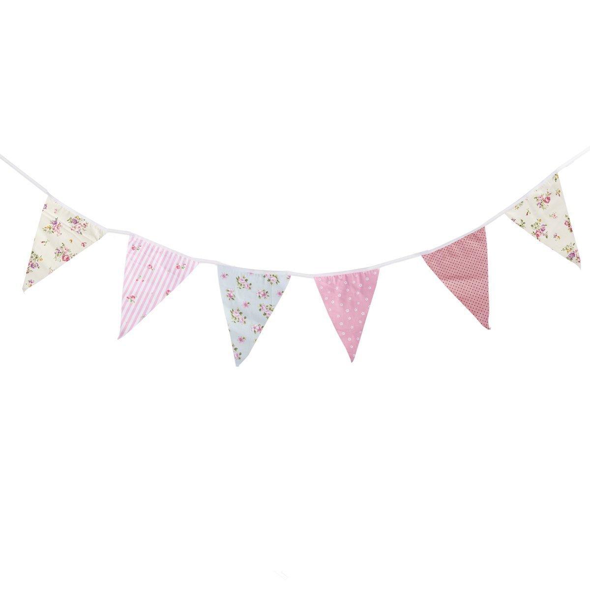 Pixnor 10m festone bandiere decorazione wedding party Decor Baby Shower Decor