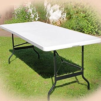 Tisch Klappbar Kunststoff.Buffettisch Tisch Klappbar Kunststoff Weiãÿ 76x183 Cm Campingtisch Partytisch Klapptisch