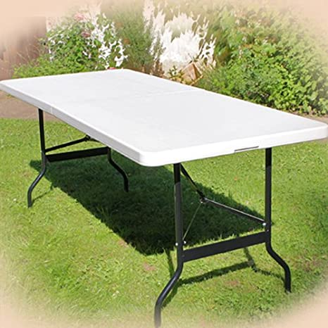 Buffettisch Tisch klappbar Kunststoff wei/Ã/Ÿ 76x183 cm Campingtisch Partytisch Klapptisch